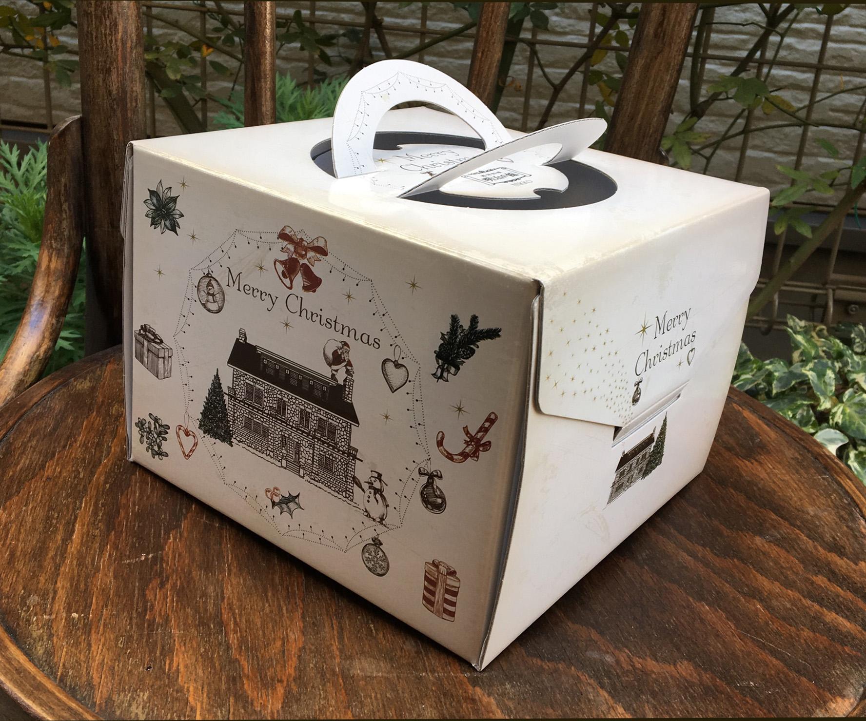 明治の館 クリスマスケーキの箱デザイン