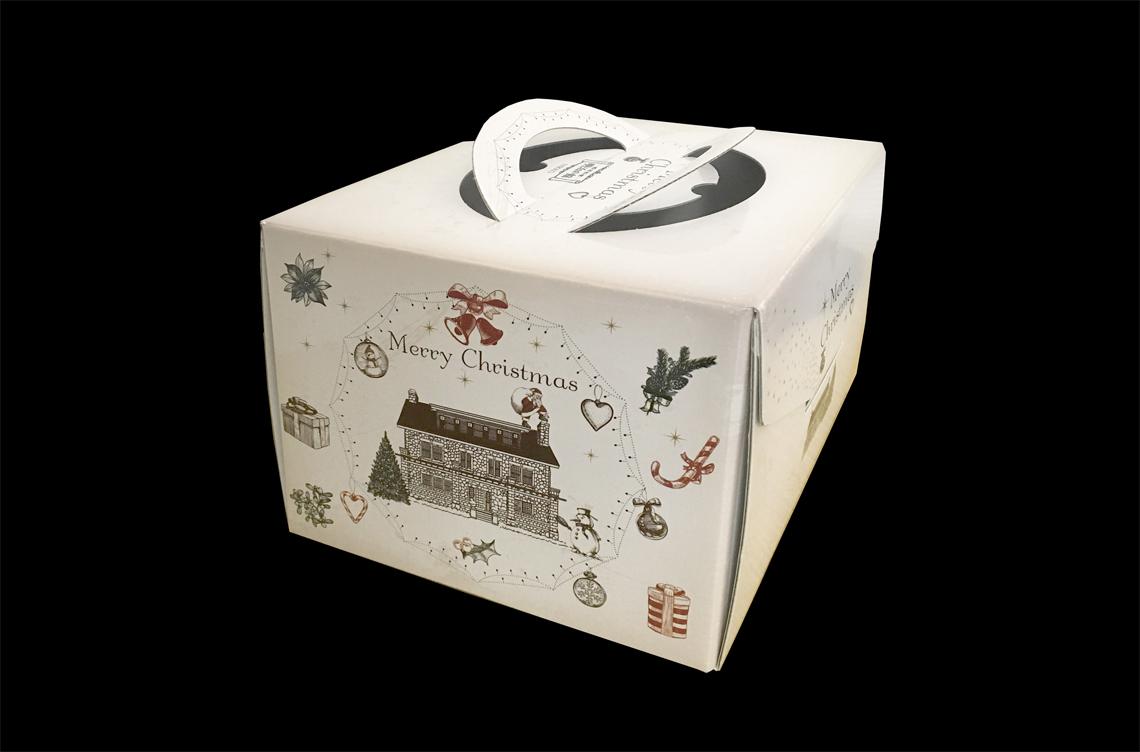 明治の館 X'masケーキの箱デザイン
